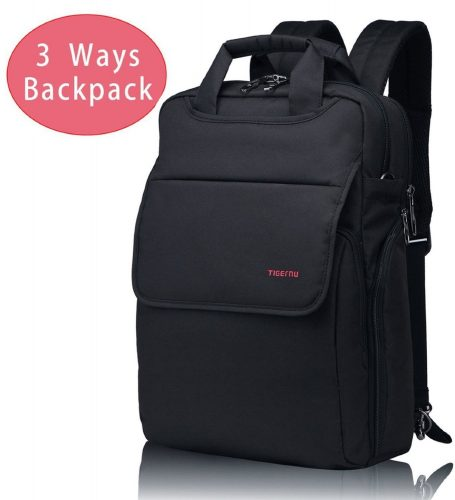 Kuprine Lightweight Slim Best Laptop Backpack Convertible Black Business Travel College Macbook Computer Backpack Most Fits 14 Inch Laptops - 14-inch laptop backpacks