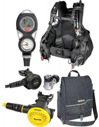 Mares Dragon BCD, Puck Comp, Instinct 12S Regulator, Rover Octo, Free Reg Bag (Large) - Scuba Gear Packages