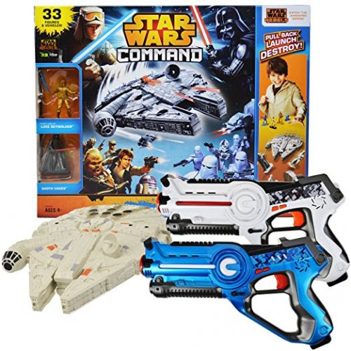 Power Brand Star Wars Millennium falcon Toy Bundle with Laser Tag Pack of 2 - Laser Tag Toys