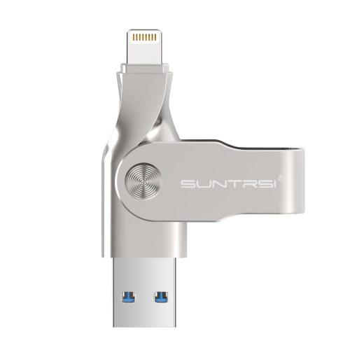 SUNTRSI USB Flash Drives for iPhone 64GB Pen-Drive Memory Storage, Suntrsi iPhone Flash Drive Lightning Memory Stick External Storage Pen Drive, Memory Expansion for iPhone/PC - External Storages