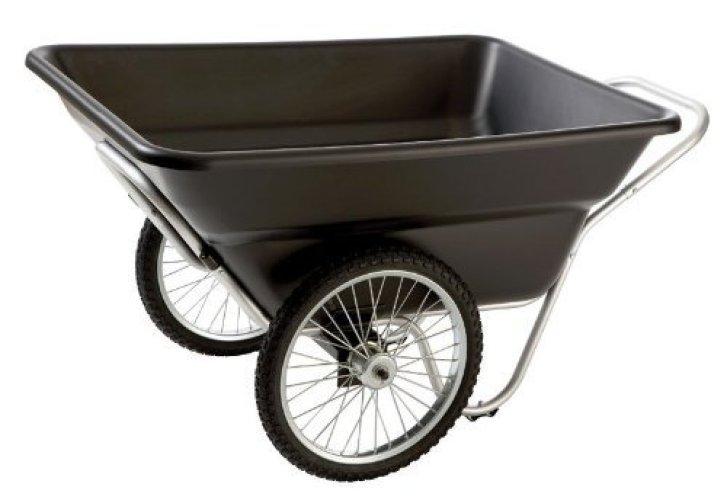 Smart Garden Cart, Black - 2-WHEEL WHEELBARROW