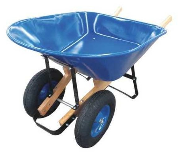 WESTWARD Wheelbarrow, Steel, 8cu.ft pneumatic Wheelbarrow - 2-WHEEL WHEELBARROW