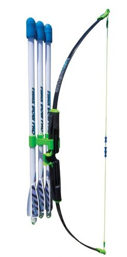 Faux Bow Pro – Shoots Over 200 Feet – Bow and Patented Arrow Archery Set - Compound Bows For Kids