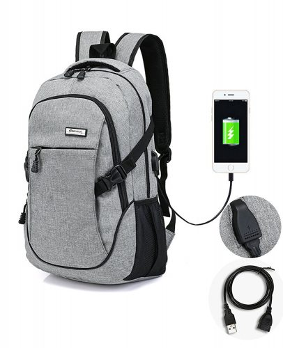 Laptop Backpack with USB Charging Port and Headphone Compartment, Fits  12-16 inch laptop eb0a9acacb