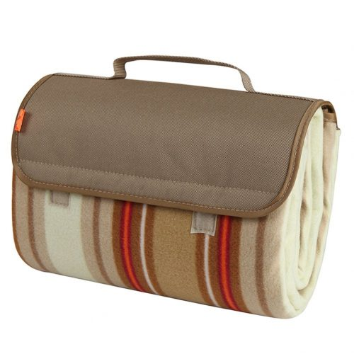 Yodo Outdoor Water-Resistant Picnic Blanket Tote, Fall-Winter Stripe - Picnic Blankets