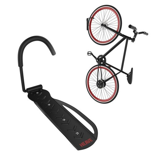 Bike Rack | Vertical Garage Wall Mount Storage for Hanging Bicycles | Heavy Duty Hook | 60 Pound Capacity | Heave Indoor