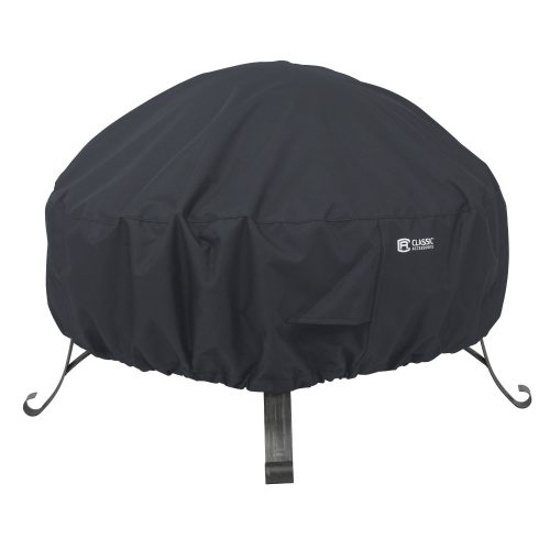"Classic Accessories 55-552-010401-00 Round Fire Pit Cover, 30"", Black - fire pit covers"