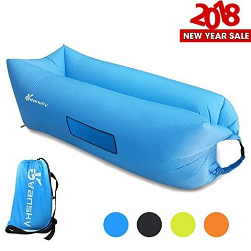 Inflatable Lounger, Vansky 2.0 Inflatable Couch Hammock Portable Air Chair Air Filled Beach Lounger, Nylon Fabric Hangout Sofa Bag, Outdoor or Indoor Inflatable Chair for Camping, Beach, Park, Backyard - Inflatable Couch