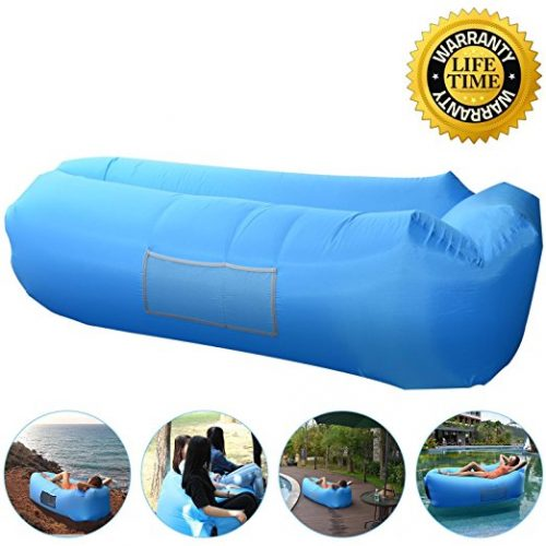 Outdoor Inflatable Lounger Couch, Air Sofa Blow Up Lounge Chair with Carrying Bag for Travelling, Camping, Hiking, Park, Pool and Beach - Inflatable Couch
