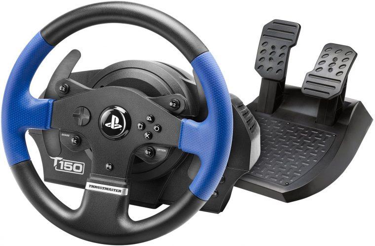 Thrustmaster T150 Force Feedback Racing Wheel for PlayStation 4 - racing steering wheel