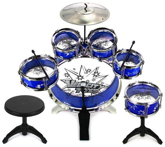 Velocity Toys Drum Set - Kids Drum Set