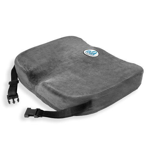 Memory Foam Chair Cushion Pillow with Straps, Best Comfort & Wider for Lower Back Pain, Sciatica, Wheelchairs, & Car Seats by Dr Tushy