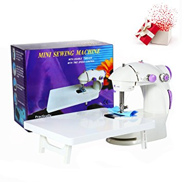 7. Varmax 201 Mini Sewing Machine with Extension Table