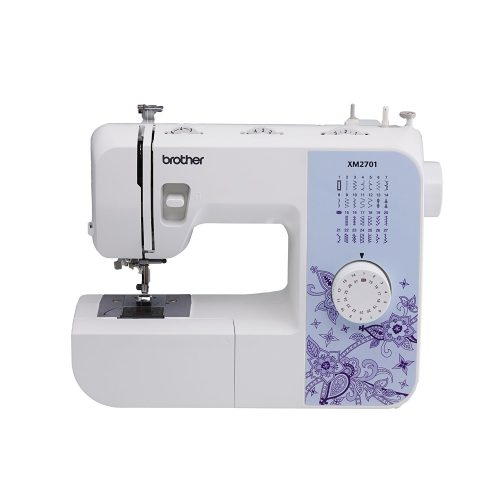 Brother XM2701 Lightweight, Full-Featured Sewing Machine with 27 Stitches, 1-Step Auto-Size Buttonholer, 6 Sewing Feet, and Instructional DVD