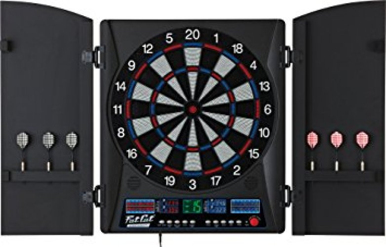Fat Cat Electronx Electronic Soft Tip Dartboard with Cabinet  - Electronic Dart Boards