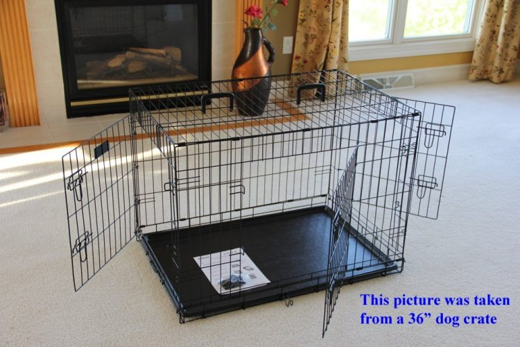 EliteField 3-Door Folding Dog Crate with RUBBER FEET, 5 Sizes, ten Models offered