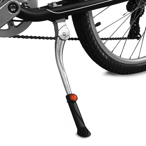 BV Bicycle Length Adjustable Center Kickstand for Bike 24 to 28 Inch