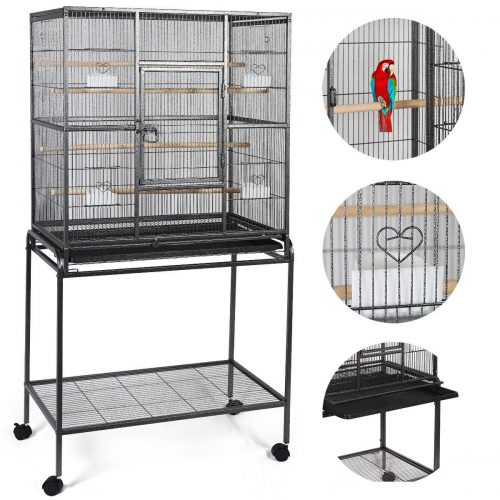 "Giantex Bird Parrot Cage Chinchilla Cockatiel Conure Large W/stand Overall 32""x18""x64"""
