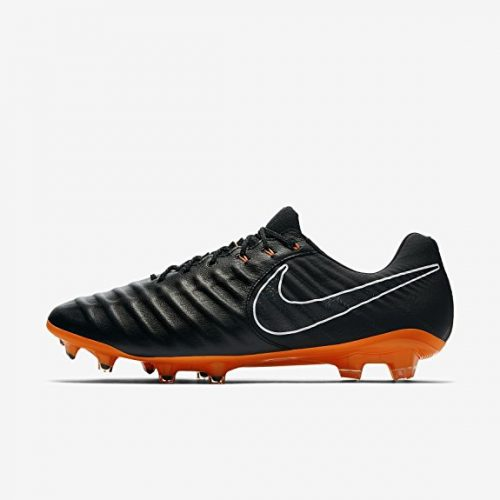 NIKE Men's Legend 7 Elite FG Soccer Cleat (Black, Total Orange)
