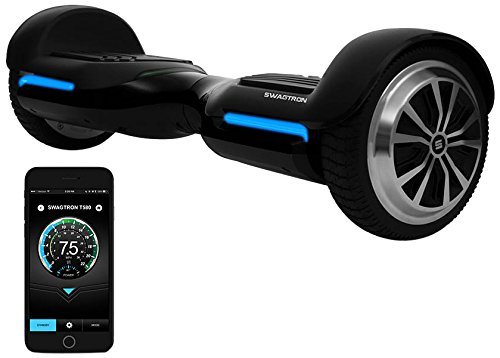 App-Enabled SWAGTRON T580 Bluetooth Hoverboard w/ Speaker Smart Self-Balancing Wheel – Available on iPhone & Android