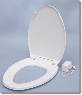 UltraTouch Heated Toilet Seat - White - Elongated Bowl