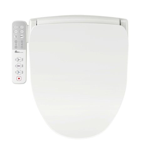 Bio Bidet Slim ONE Bidet Smart Toilet Seat in Elongated White with Stainless Steel Self-Cleaning Nozzle, Nightlight, Turbo Wash, Oscillating, and Fusion Warm Water Technology