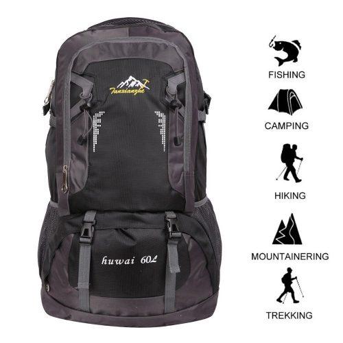 41b463b7dc0d 60 L Waterproof Ultra Lightweight Packable Climbing Fishing Traveling Backpack  Hiking Daypack