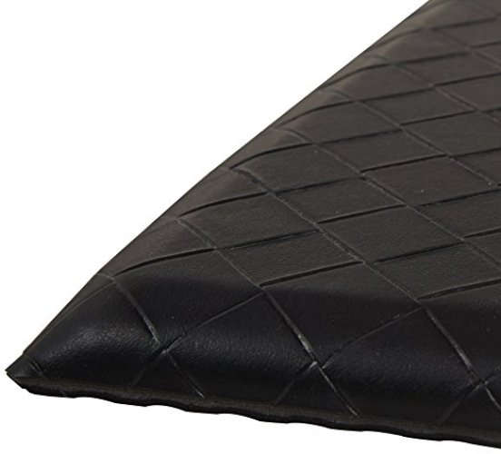 AmazonBasics Premium Anti-Fatigue Standing Comfort Mat for Home and Office - 20x36-Inches, Black - Anti-Fatigue Mats