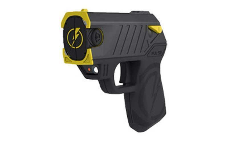 Pulse Taser with 2 Cartridges, LED Laser with/2 Cartridges, Holster, and Target, Black - stun guns