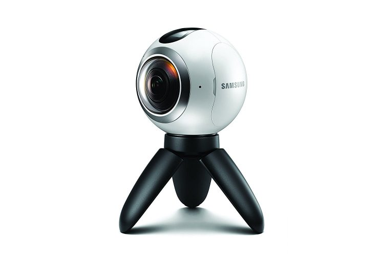 Samsung Gear 360 Real 360° High Resolution VR Camera (US Version with Warranty) - 360-Degree Camera