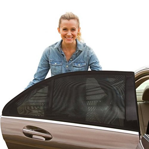 ShadeSox Universal Fit Car Side Window Baby Sun Shade (2 Pack) | Protects Your Baby and Older Kids from the Sun, Fits All (99%) Cars - Car Window Sunshades