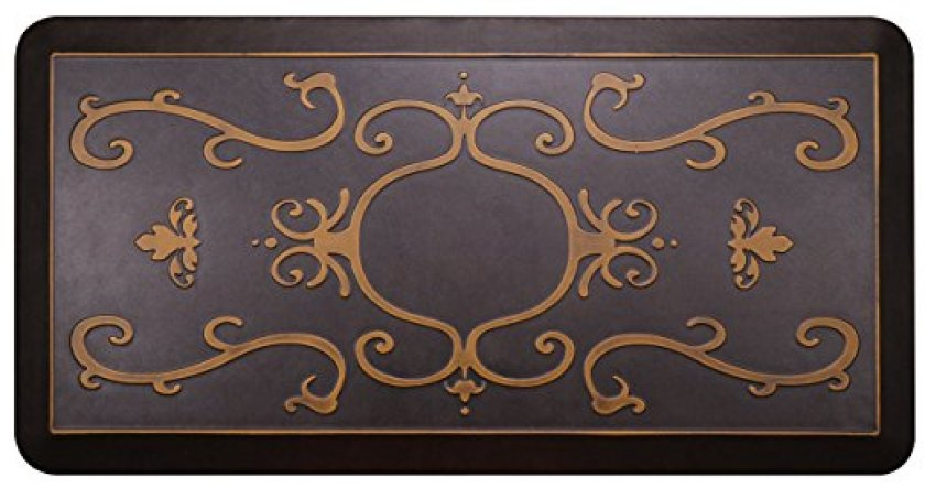 Urvigor Kitchen Mat Anti Fatigue Mats Comfort Floor Mats Standing Mat. Perfect for Kitchens, Standing Desk (20x39x3/4-Inch, light antique) - Anti-Fatigue Mats