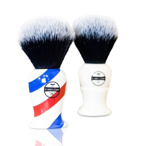 HAIRCUT AND SHAVE CO. Proven Synthetic Shaving Brush - 100% Synthetic Materials - 24mm Extra Dense Knot - Shaving Brush