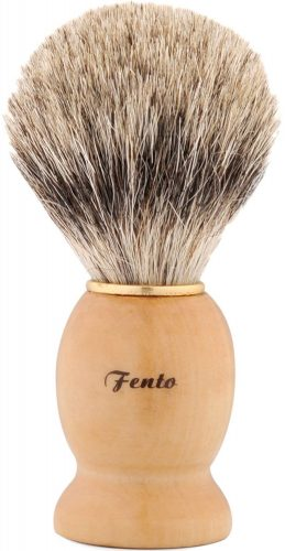 Fento Pure Badger Hair Shaving Brush-For Double Edge Razor, Safety Razor,Black Handle - Shaving Brush