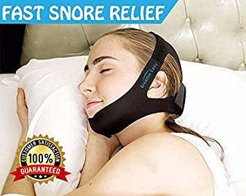 Breathe Easy Anti Snoring Chin Strap The Best Stop Snoring Solution Instant Stop Snore Remedies Aids Snoring Relief Devices Anti Snore Jaw supporter Chin Straps Adjustable size for Men and Women- antisnoring