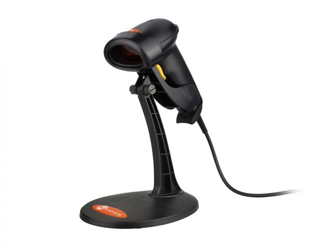 TaoTronics USB Barcode Scanner Wired Handheld Laser Bar Code Scanner Automatic Sensing and Scan Black
