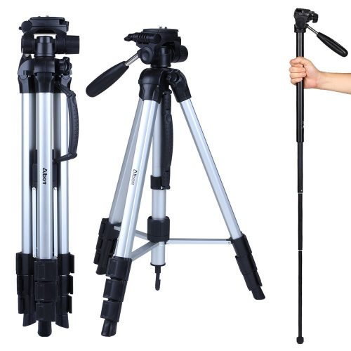"Albott 70"" Travel Portable DSLR Camera Tripod Monopod Flexible Head for Canon Nikon with carrying Bag - DSLR camera tripods"