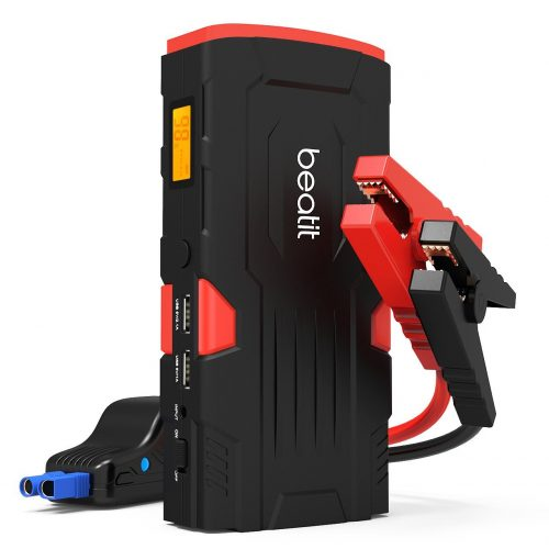 Beatit 800A Peak 18000mAh 12V Portable Car Jump Starter (Up to 7.0L Gas or 5.5L Diesel Engine) With Smart Jumper Cables Auto Battery Booster Power Pack Phone Power Bank With Smart Charging Ports - Car Battery Chargers