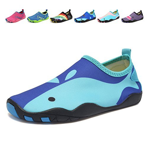 CIOR Kids Water Shoes Quick-Dry Boys and Girls Slip-On Aqua Beach Sneakers (Toddler/Little Kid/Big Kid) - Cycling Shoes for Kids