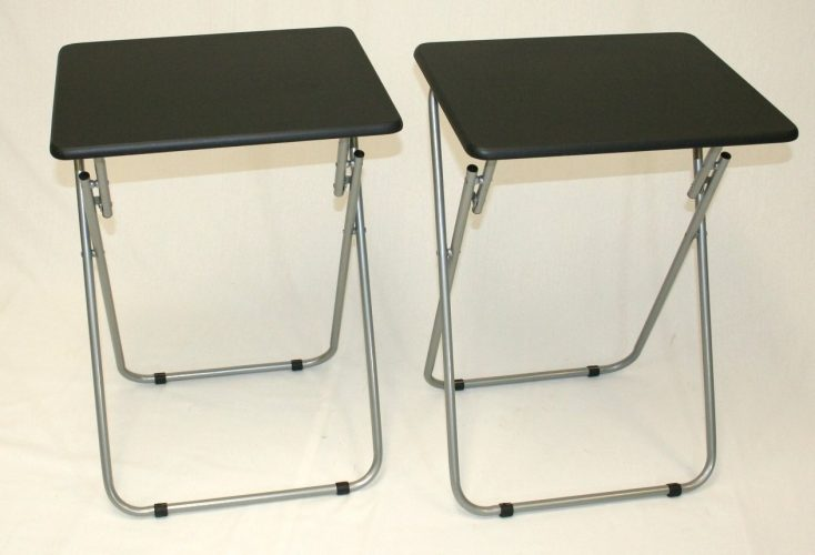 eHemco Set of 2 Folding TV Trays TV Tables