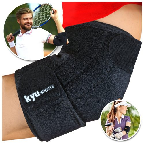 KYUSport Adjustable Neoprene Tennis Golfers Elbow Brace Wrap Arm Support Band.
