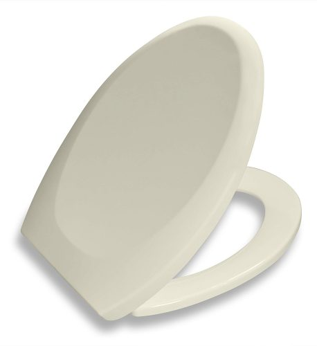 Bath Royale Premium Elongated Toilet Seat with Cover, Almond-Bone, Slow-Close, Quick-Release for Easy Cleaning. Fits All Elongated (Oval) Toilets - toilet seats