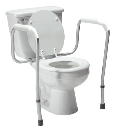 Lumex 6465A-1 Versaframe Toilet Safety Rail with Adjustable Height, Brown Box - toilet safety frames & rails