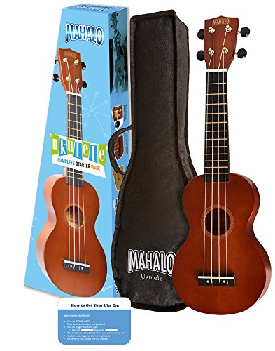 Mahalo Rainbow Series Soprano Ukulele Starter Pack (Amazon Exclusive) - Ukuleles For Beginners