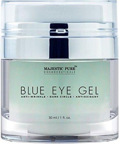 Majestic Pure Blue Eye Gel, Potent Anti Wrinkle and Dark Circle Eye Cream Formula for Skin Tone and Resilience, 1.0 fl. Oz - Eye Creams For Women