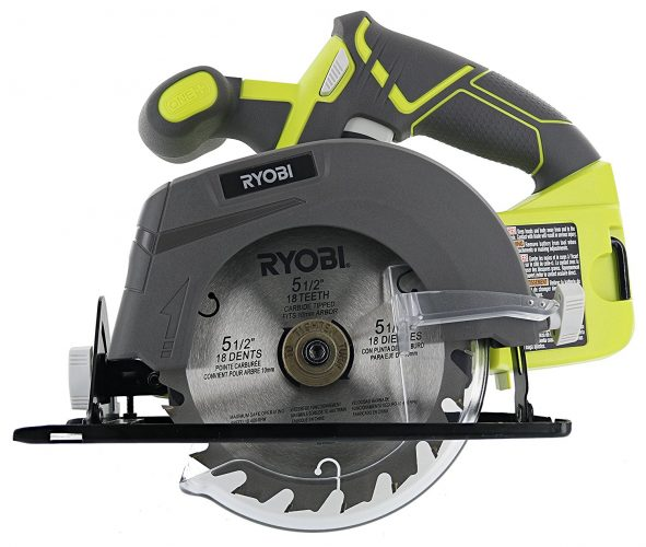 """Ryobi One+ P505 18V Lithium Ion Cordless 5-1/2"""" 4,700 RPM Circular Saw (Battery Not Included, Power Tool Only) - circular saw"""