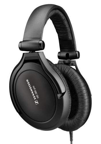 Sennheiser HD 380 Pro Collapsible High End Over-Ear Headset for Professional Monitoring Use (Black) - studio headphones