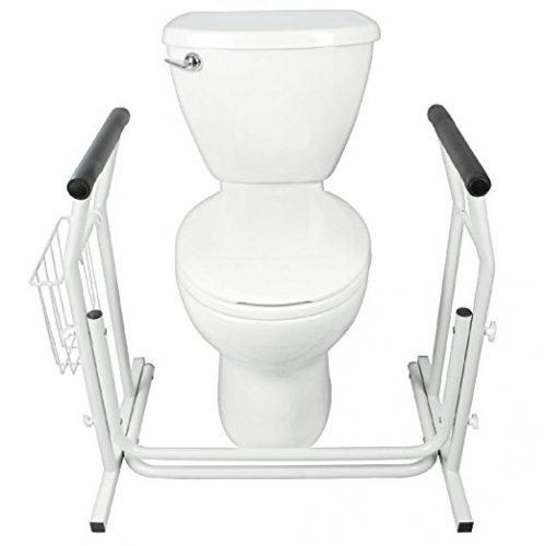 Stand Alone Toilet Rail by Vive - Medical Bathroom Safety Assist Frame w/Grab Bars & Railings for Elderly, Senior, Handicap & Disabled - Padded Handrails - toilet safety frames & rails