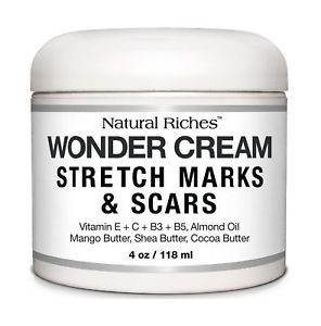 Stretch Marks & Scar Removal Cream from Natural Riches - 4 oz - 100% Natural, Reduces the Appearances of Keloids, Pregnancy Stretch Marks and scars, helps in Firming & Tightening Skin - Stretch Mark Removal Creams
