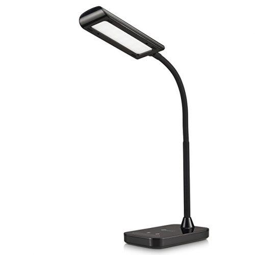TaoTronics LED Desk Lamp, Flexible Gooseneck Table Lamp 7W, 5 Color Temperatures with 7 Brightness Levels, Touch Control, Memory Function - Desk Lamps